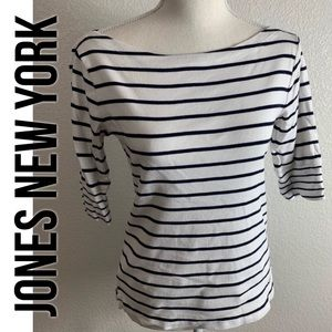 Jones New York striped top